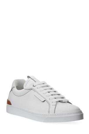 Ermenegildo Zegna Men's Ferrara Leather Low-Top Sneakers