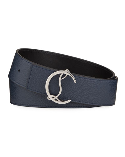 Men's CL Logo Empire Leather Belt