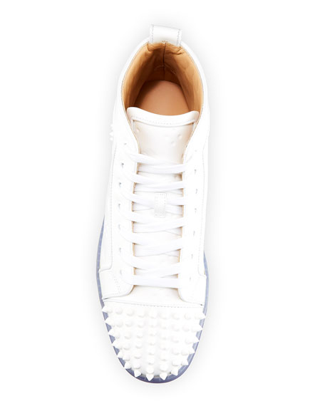 Image 2 of 5: Men's Lou Spikes 2 High-Top Clear-Sole Sneakers