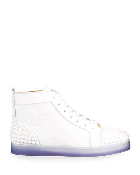 Image 3 of 5: Men's Lou Spikes 2 High-Top Clear-Sole Sneakers