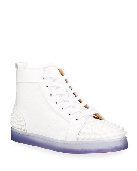 Image 1 of 5: Men's Lou Spikes 2 High-Top Clear-Sole Sneakers
