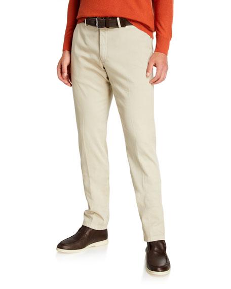 Loro Piana Pants Men's Slim Straight-Leg Stretch-Cotton Pants