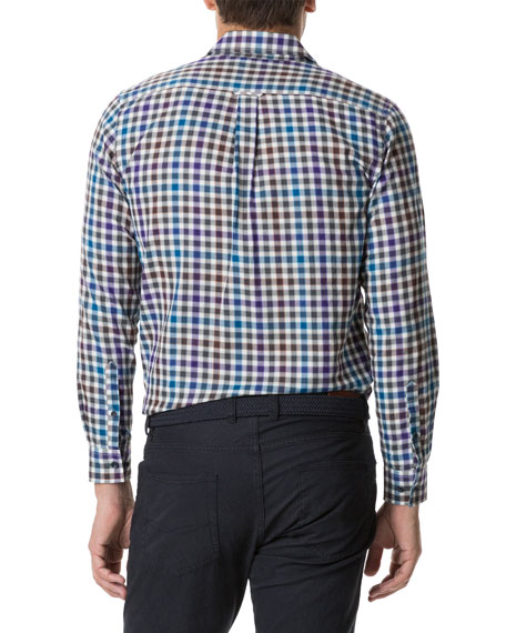 Rodd & Gunn Men's Pentland Hills Multicolor Check Sport Shirt