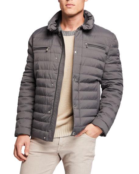 Brunello Cucinelli Jackets Men's Lightweight Water-Resistant Down Jacket