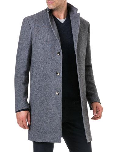Men's Calton Hill Wool-Cotton Coat