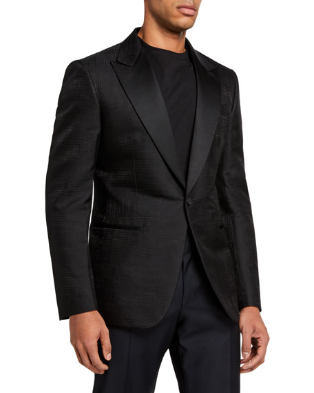 Image 1 of 3: Ermenegildo Zegna Men's Peak-Lapel Dinner Jacket