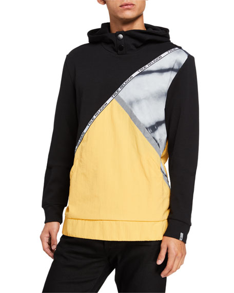 True Religion Men's Colorblock Hoodie Sweatshirt