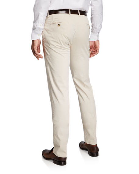 Image 2 of 3: Canali Men's Stretch-Twill Straight-Leg Pants