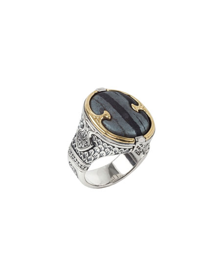 Image 2 of 3: Konstantino 18K Gold/Silver Ferrite Ring, Size 10