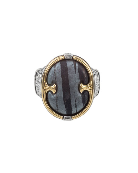Image 1 of 3: Konstantino 18K Gold/Silver Ferrite Ring, Size 10