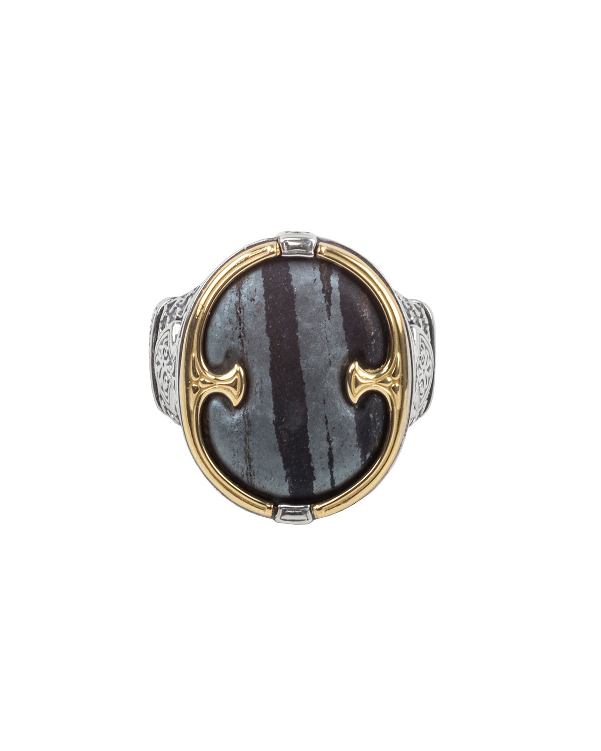 Konstantino 18K Gold/Silver Ferrite Ring, Size 10