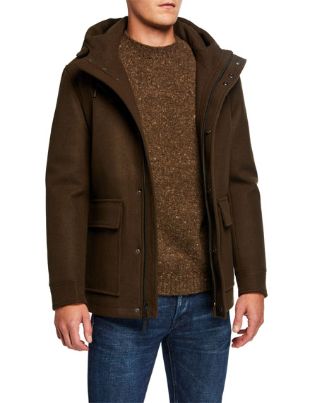 Cole Haan Men's Stretch-Woolen Jacket