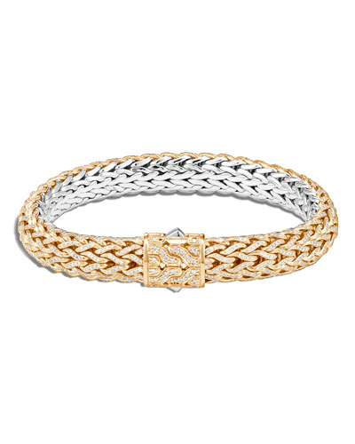 Men's 18K Gold Classic Chain Bracelet