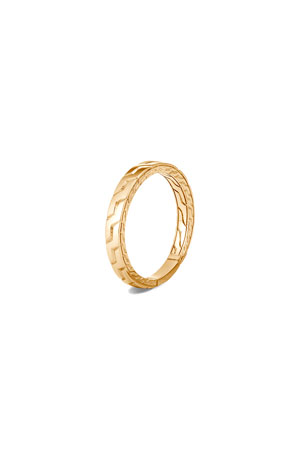 John Hardy Men's 18K Yellow Gold Classic Chain Band Ring, Size 9-13