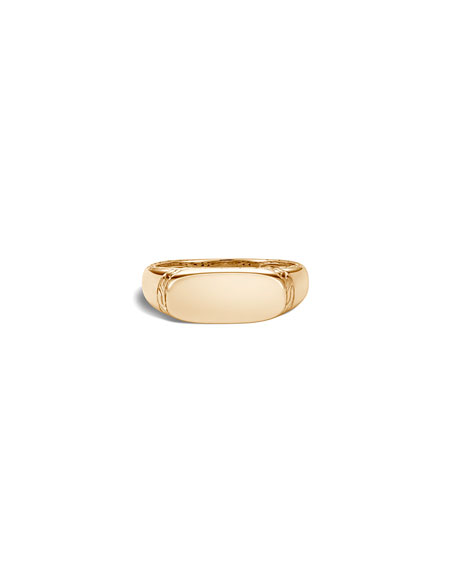 Image 2 of 4: John Hardy Men's 18K Yellow Gold Classic Chain Signet Ring, Size 9-13