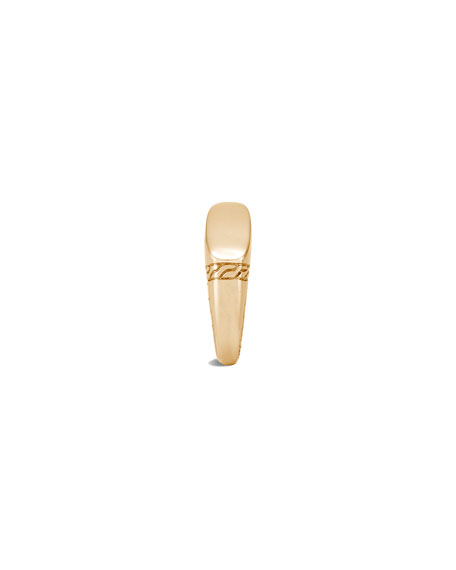 Image 4 of 4: John Hardy Men's 18K Yellow Gold Classic Chain Signet Ring, Size 9-13