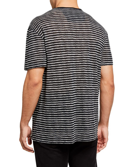 John Varvatos Star USA Men's Adrian Zigzag Striped T-Shirt