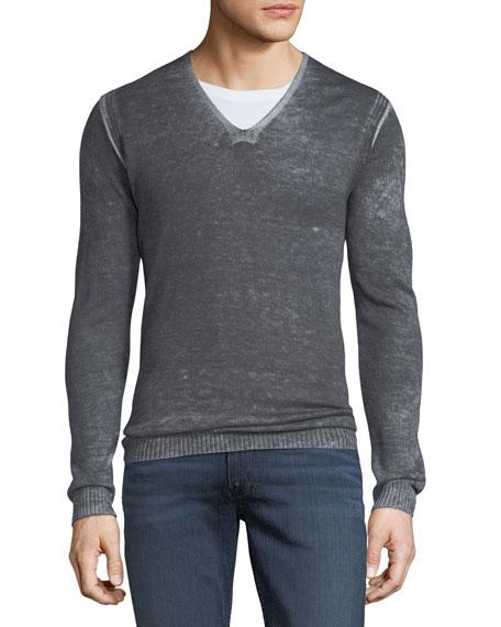 John Varvatos Star USA Men's Reverse-Seam Sweater