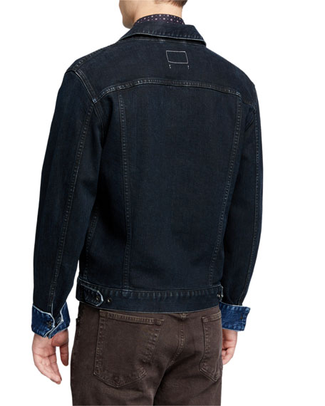 Rag & Bone Men's Definitive Dark-Wash Jean Jacket