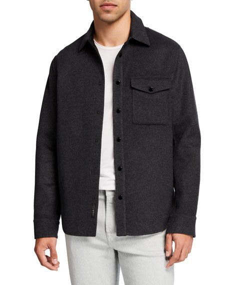 Rag & Bone Men's Principle Wool Shirt Jacket