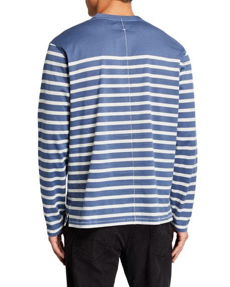 Rag & Bone Men's Henry Striped Long-Sleeve T-Shirt