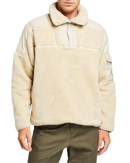 Rag & Bone Men's Logan Sherpa Pullover Sweater