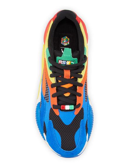 Puma Men's RS-X Rubiks Cube Colorblock Sneakers