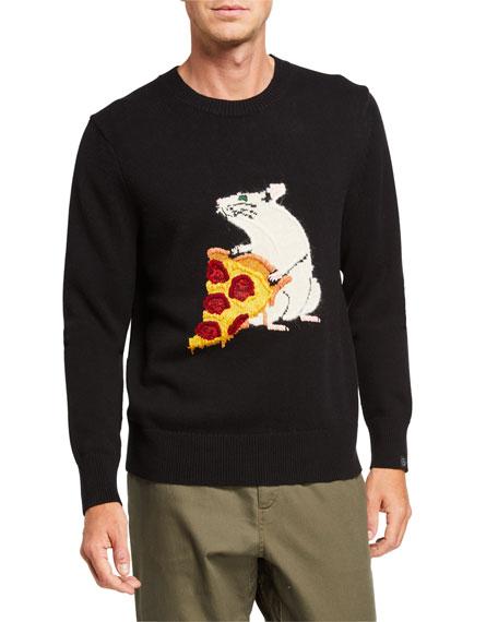 Rag & Bone Men's Pizza Rat Crewneck Sweatshirt