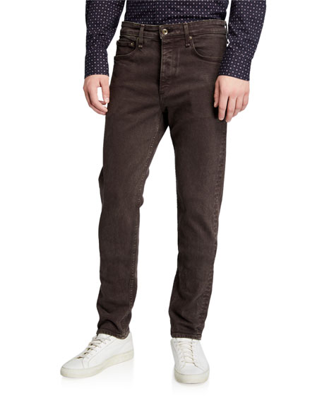 Rag & Bone Men's Fit 2 Mid-Rise Stone-Washed Jeans