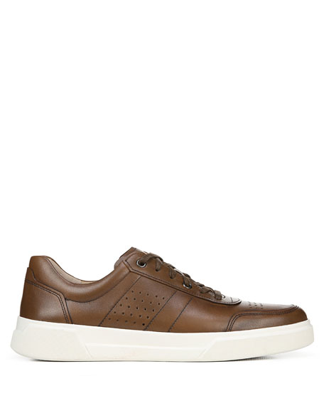 Image 3 of 5: Vince Men's Barnett Perforated Leather Low-Top Sneakers