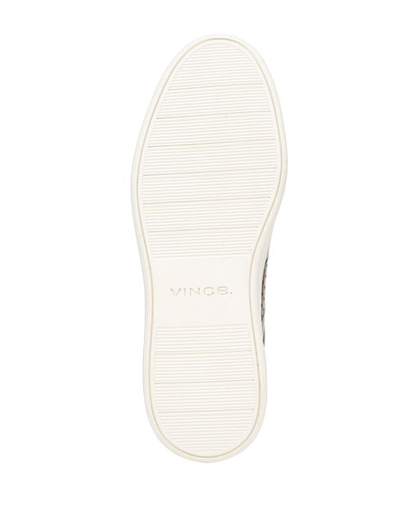 Image 4 of 5: Vince Men's Barnett Perforated Leather Low-Top Sneakers