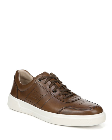 Image 1 of 5: Vince Men's Barnett Perforated Leather Low-Top Sneakers