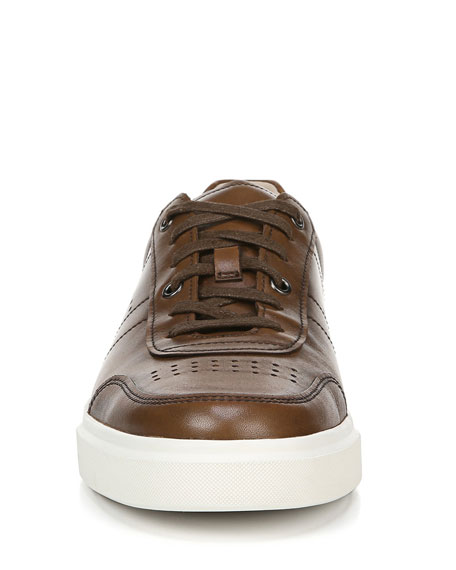 Image 5 of 5: Vince Men's Barnett Perforated Leather Low-Top Sneakers