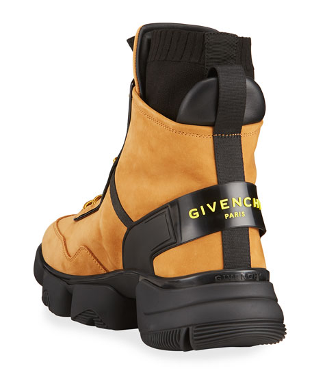 Image 4 of 4: Givenchy Men's Jaw Suede Back-Strap Sock Boots