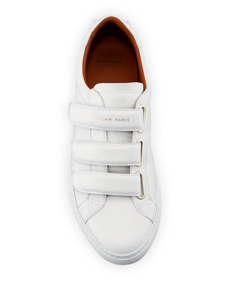 Image 2 of 4: Givenchy Men's Urban Three-Strap Tonal Leather Sneakers