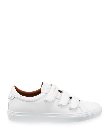 Image 3 of 4: Givenchy Men's Urban Three-Strap Tonal Leather Sneakers
