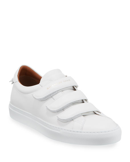 Image 1 of 4: Givenchy Men's Urban Three-Strap Tonal Leather Sneakers