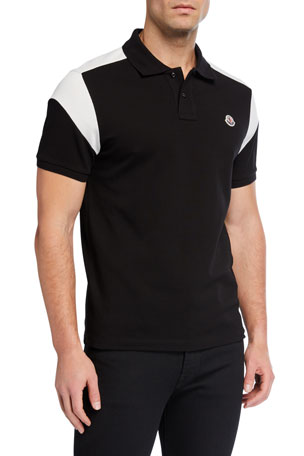 Moncler Men's Colorblock Jersey Polo Shirt