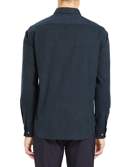 Image 3 of 3: Theory Men's Irving Corduroy Point-Collar Sport Shirt