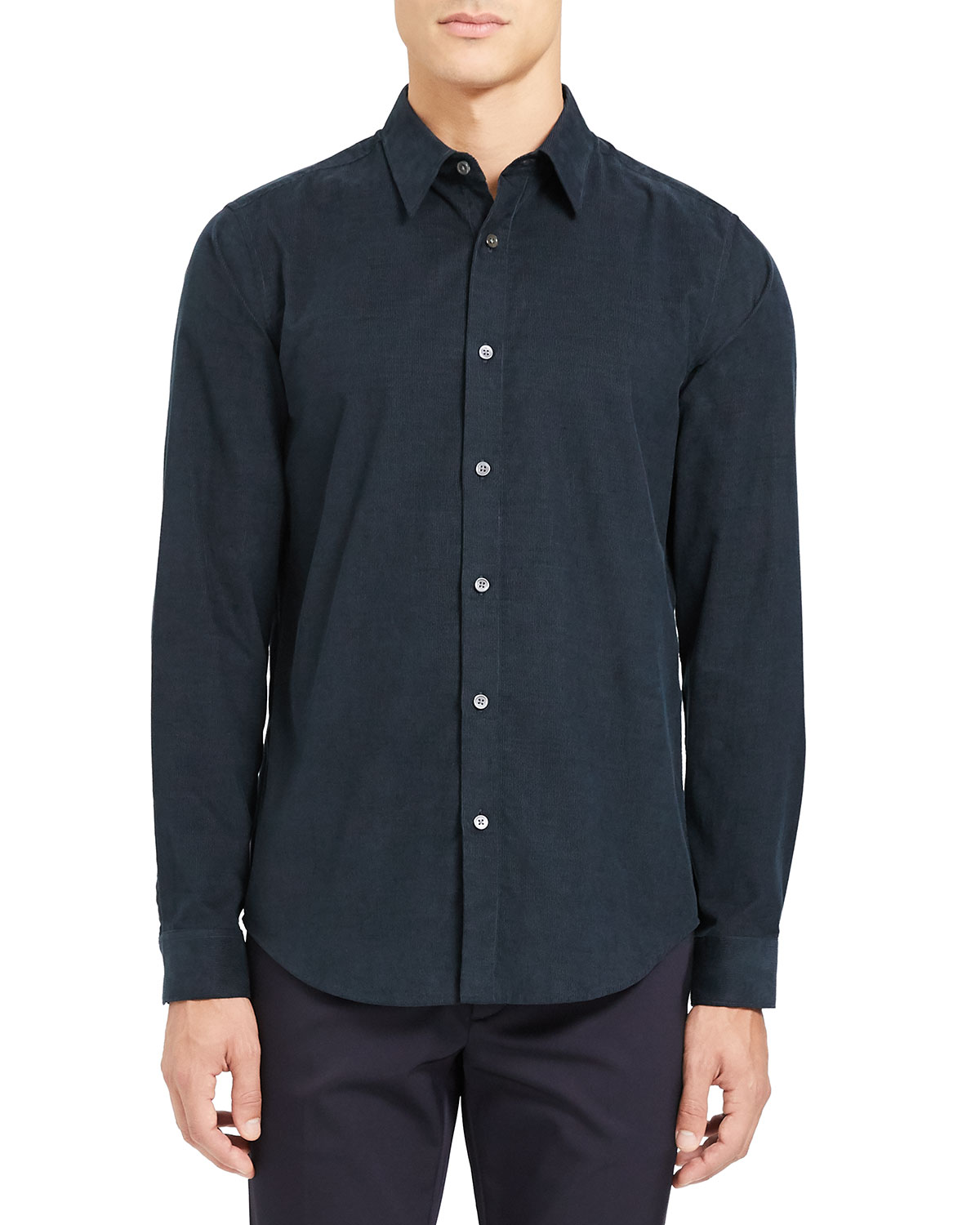 Theory Men's Irving Corduroy Point-Collar Sport Shirt