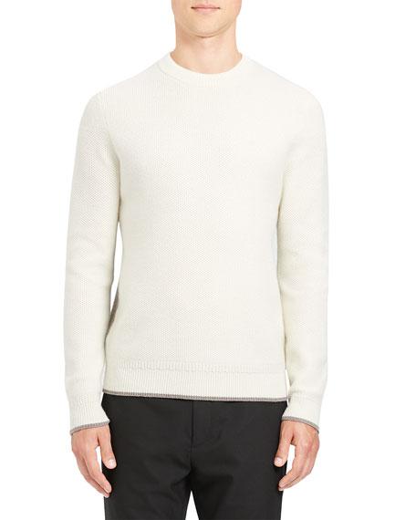 Theory Men's Winlo Crimden Contrast-Back Wool Sweater