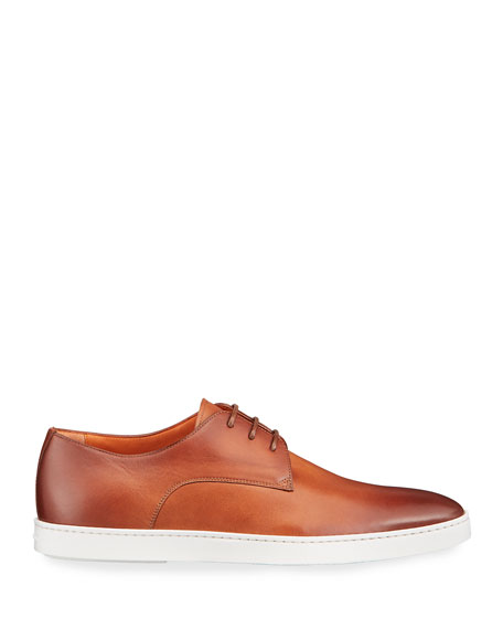 Image 3 of 4: Santoni Men's Doyle Leather Derby Sneakers