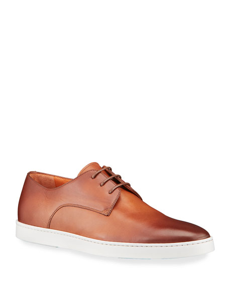 Image 1 of 4: Santoni Men's Doyle Leather Derby Sneakers