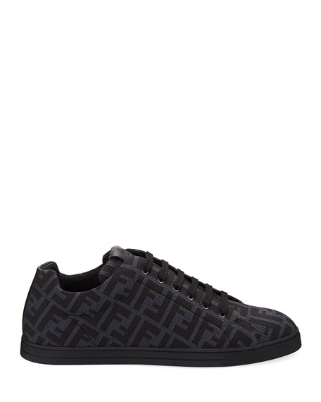 Fendi Men's Allover FF Low-Top Sneakers