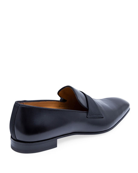 Image 4 of 5: Paul Stuart Men's Heron Smooth Leather Loafers