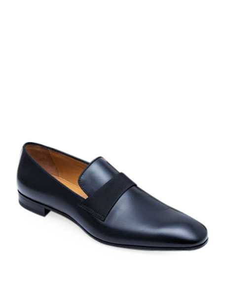 Image 1 of 5: Paul Stuart Men's Heron Smooth Leather Loafers