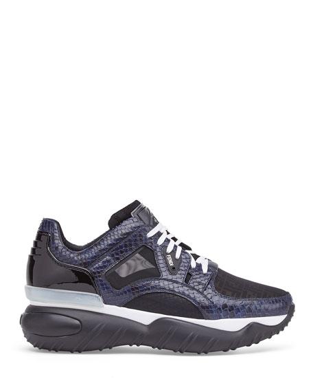 Fendi Men's Exotic Chunky Runner Sneakers
