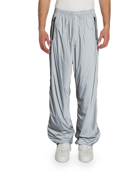 Givenchy Men's Printed Technical Nylon Jogger Pants