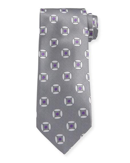 Canali Men's Circular Diamond Silk Tie