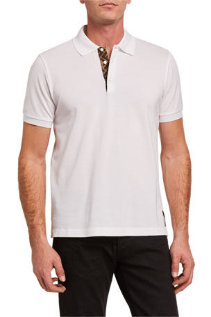 Fendi Men's FF-Placket Polo Shirt